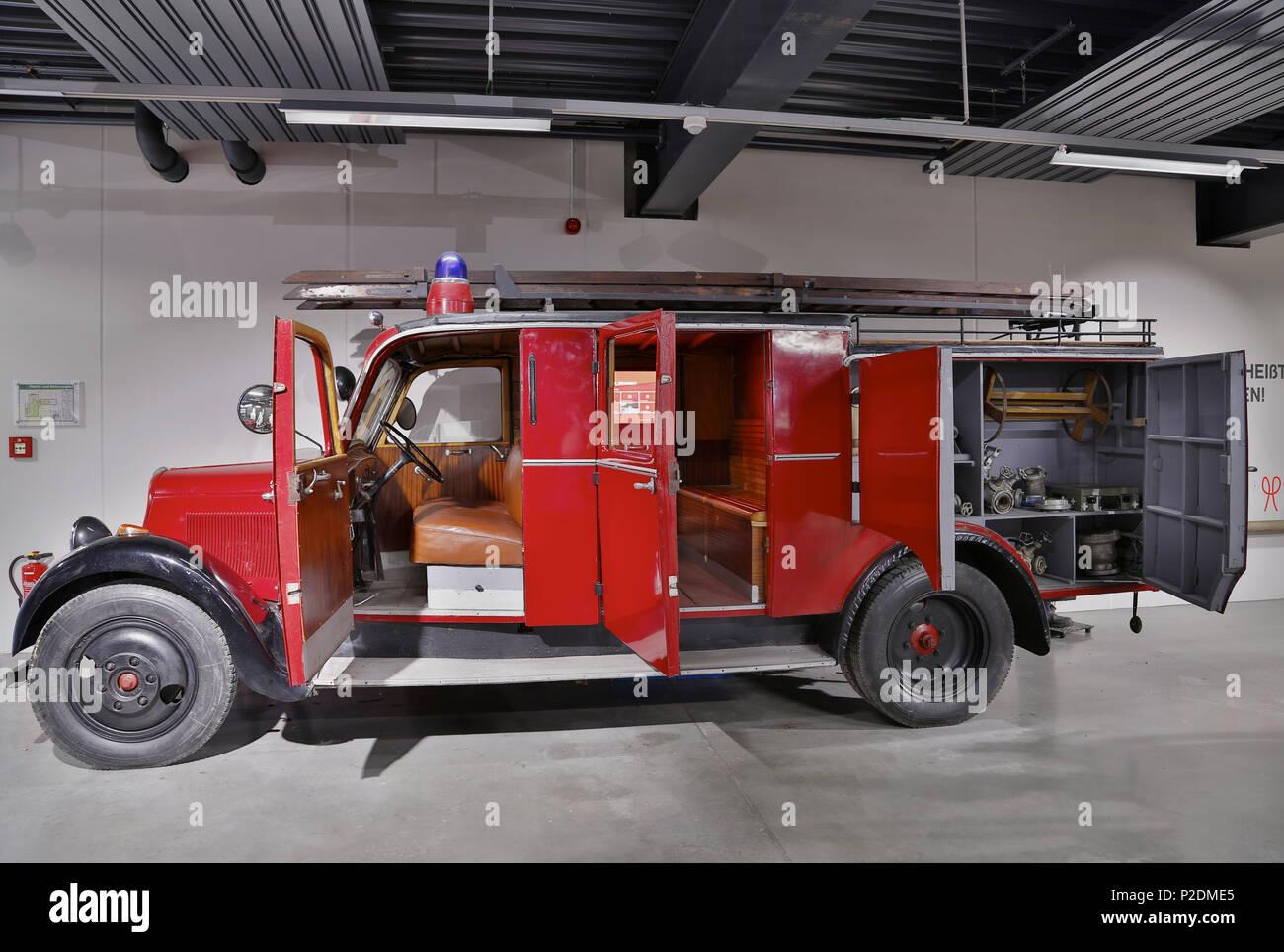Rheinland-Pfaelzisches Feuerwehrmuseum Fire-Brigade Museum in Hermeskeil, Administrative district of Trier-Saarburg, Region of H - Stock Image