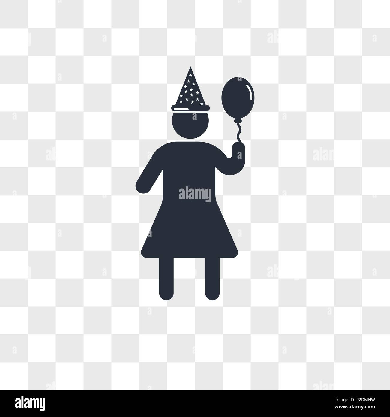 Woman Birthday Vector Icon Isolated On Transparent Background Woman