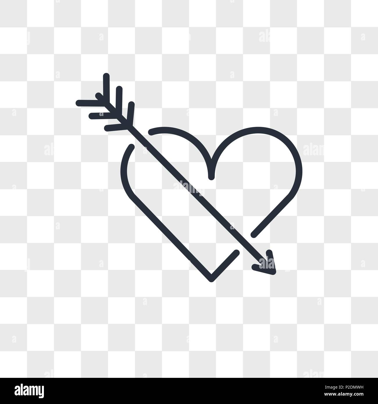 Heart vector icon isolated on transparent background, Heart