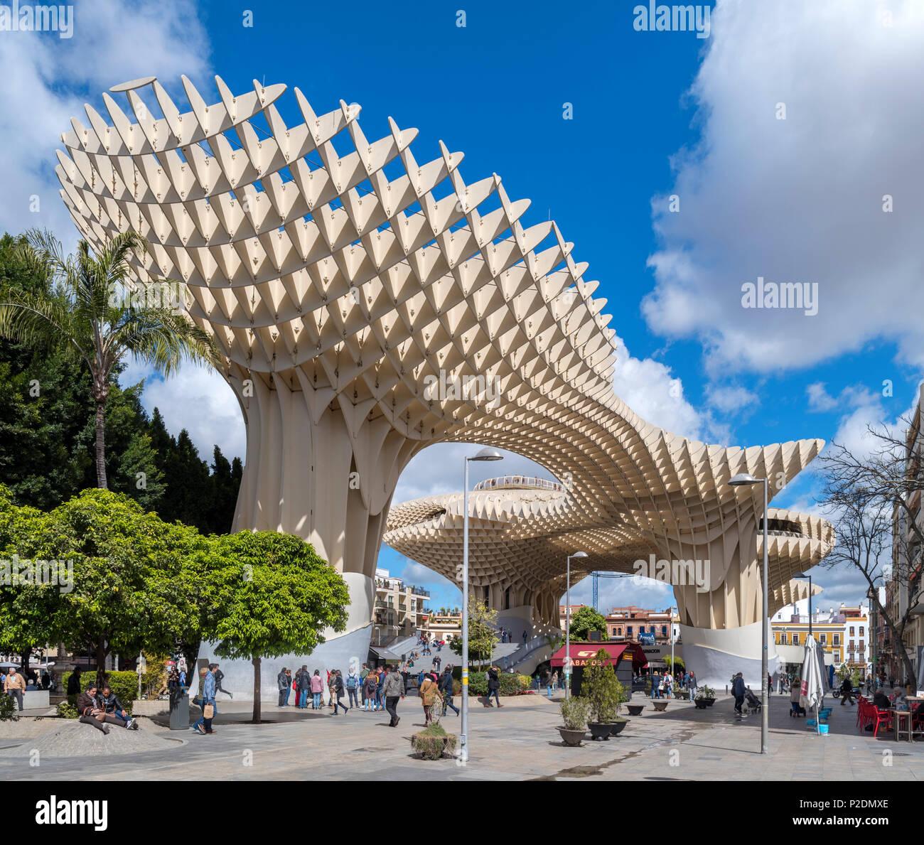 Seville, Spain. Las Setas ( Metropol Parasol ), Plaza de la Encarnacion, Seville ( Sevilla ), Andalucia, Spain - Stock Image