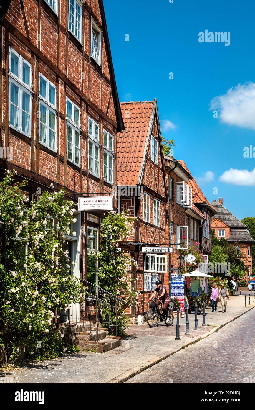 Alley in the old town, Eutin, Holstein Switzerland, Ostholstein, Schleswig-Holstein, Germany - Stock Image