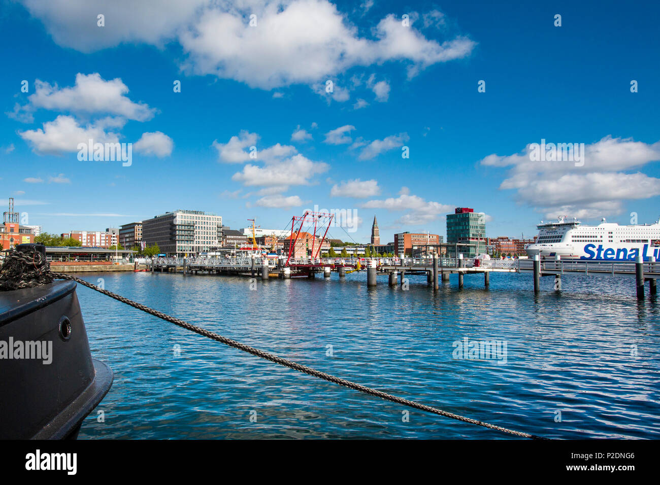 Harbour and city centre, Kiel, Baltic Coast, Schleswig-Holstein, Germany - Stock Image