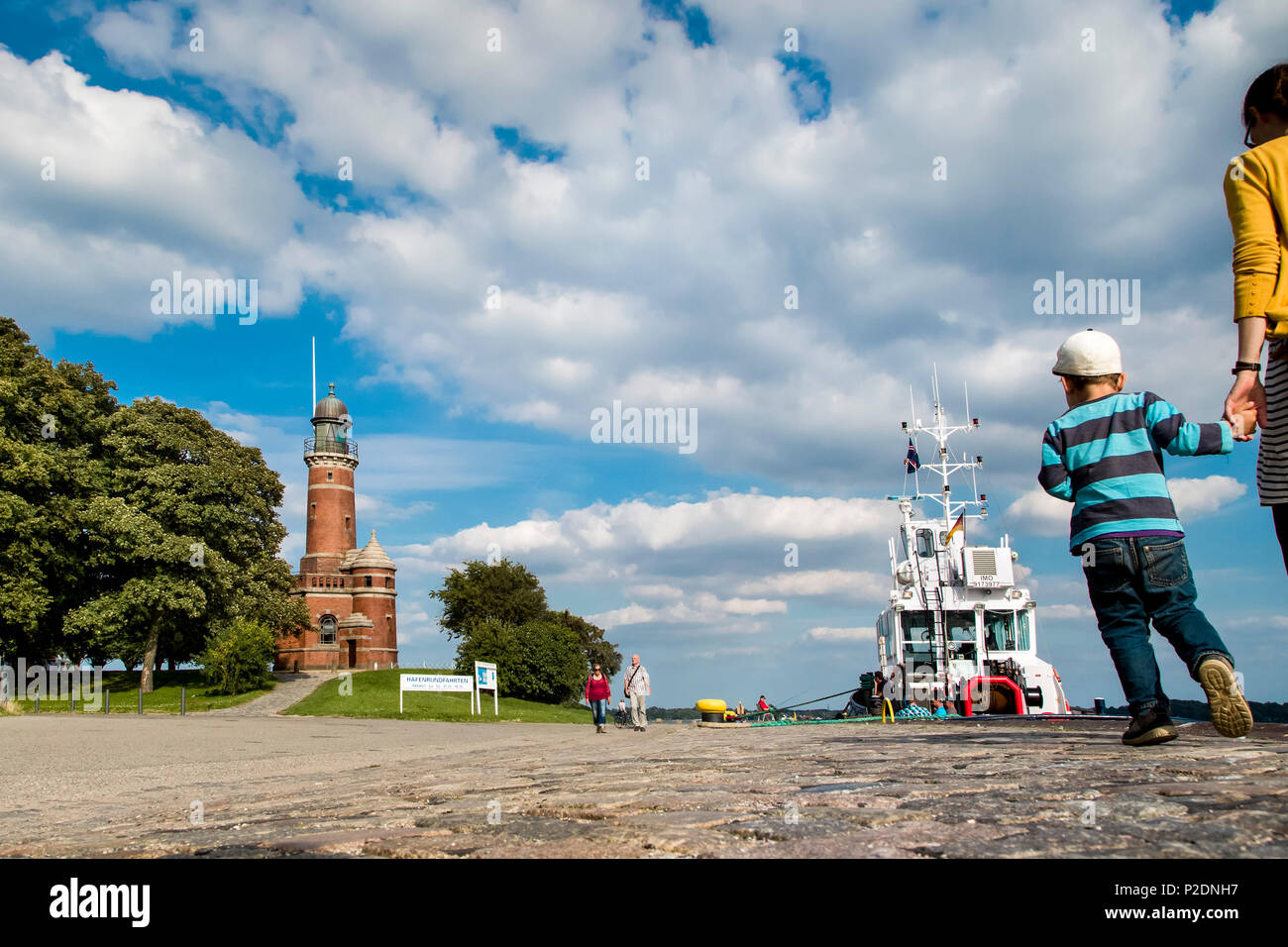 Holtenau lighthouse, Kiel, Baltic Coast, Schleswig-Holstein, Germany - Stock Image