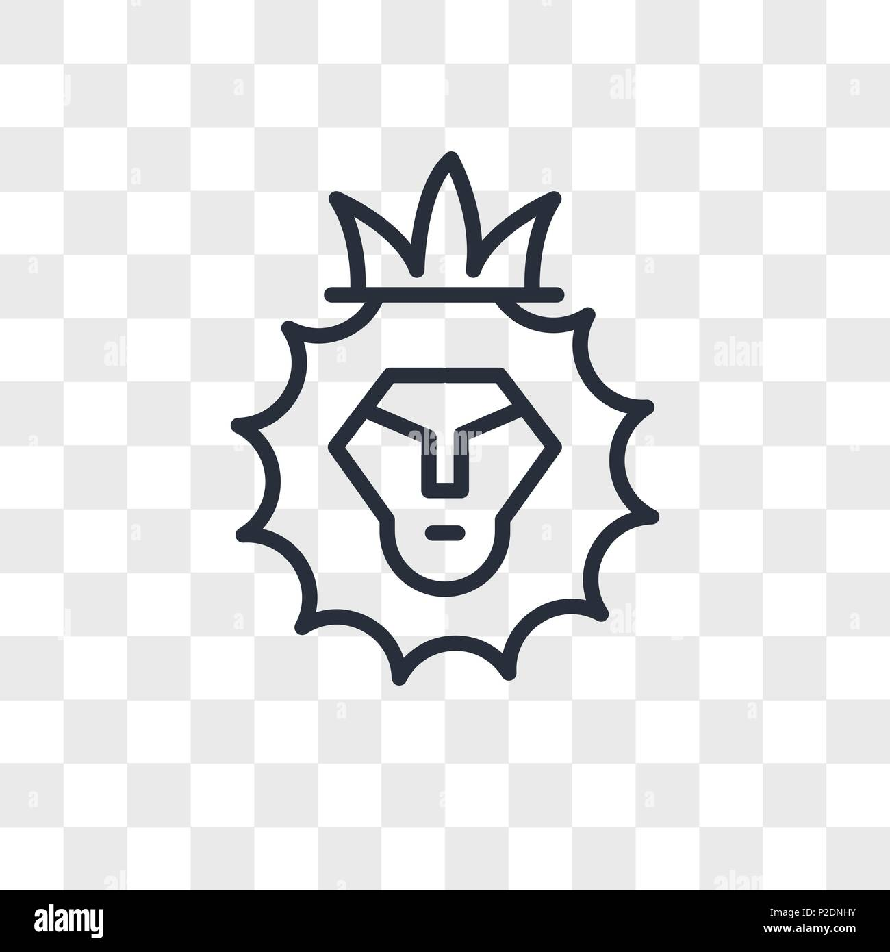 Lion of judah vector icon isolated on transparent background lion of judah logo concept