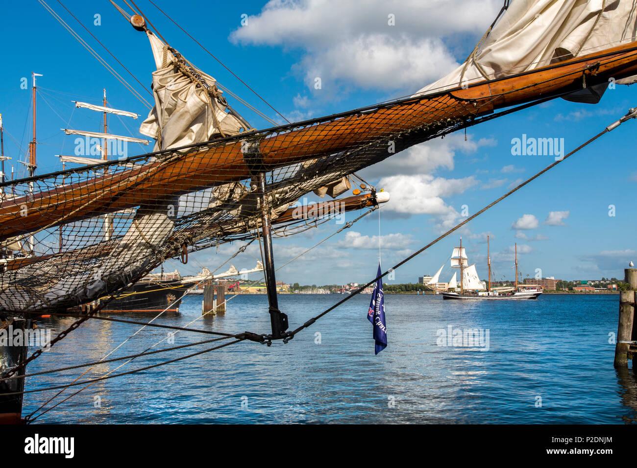 Sailing ship, Kieler Woche, Kiel, Baltic Coast, Schleswig-Holstein, Germany - Stock Image