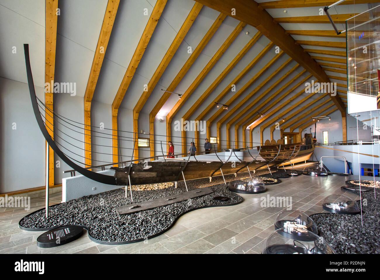 Viking museum Haitabu, Schleswig, Schlei, Baltic Coast, Schleswig-Holstein, Germany - Stock Image
