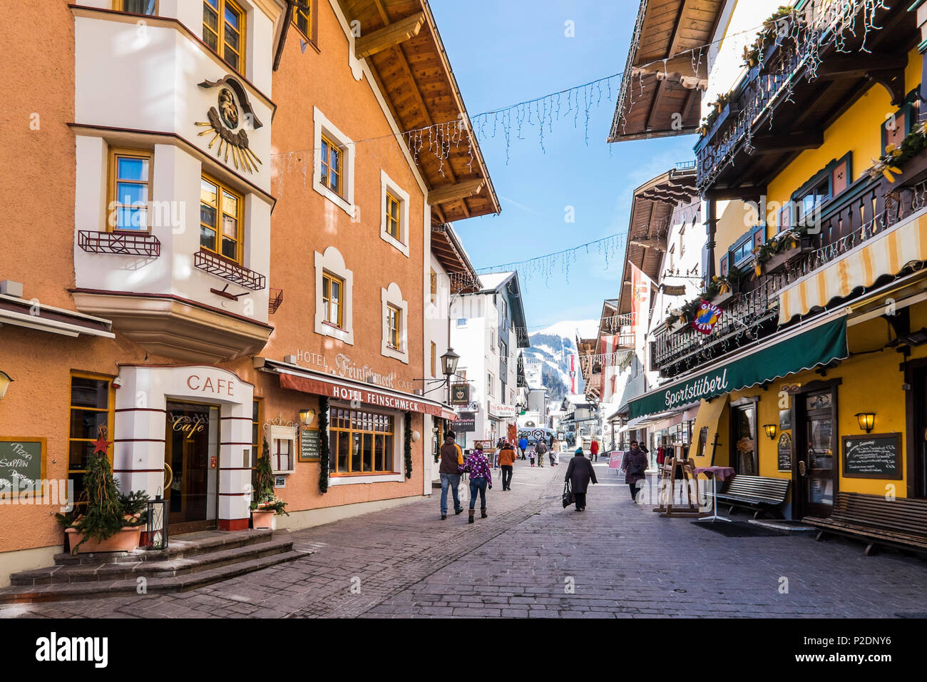 shopping area in Zell am See, Salzburger Land, Austria, Europe Stock Photo