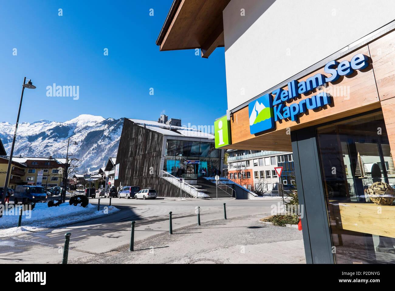 view to Kaprun and the Kitzsteinhorn, Salzburger Land, Austria, Europe Stock Photo