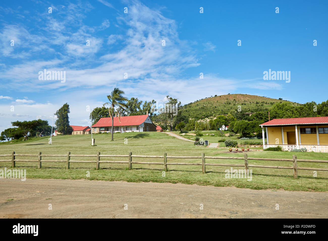 View of Rorke's Drift mission, Natal Province, South Africa - Stock Image