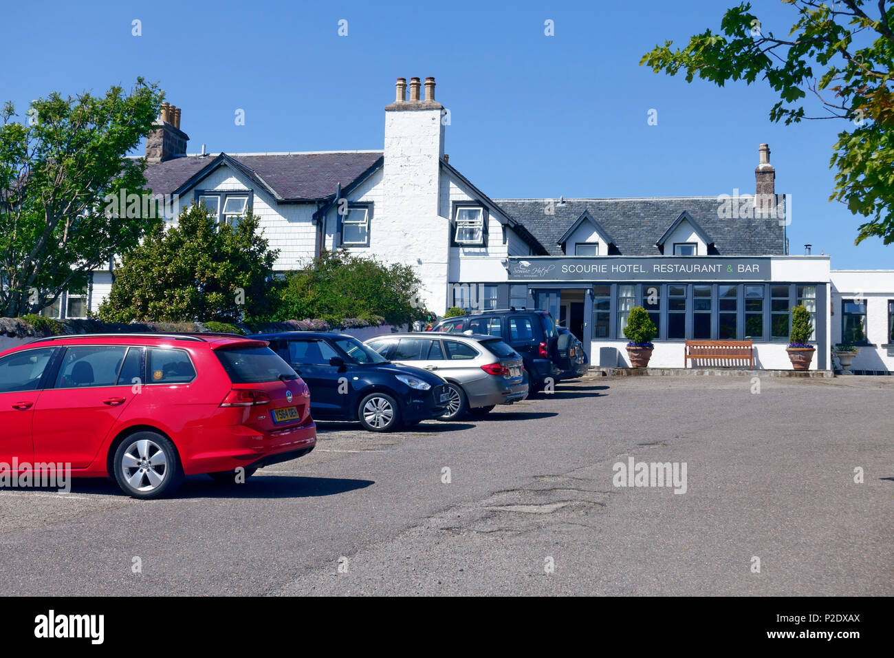 Scourie hotel, restaurant & bar just off the North coast 500 route in Sutherland, Highlands, Scotland - Stock Image