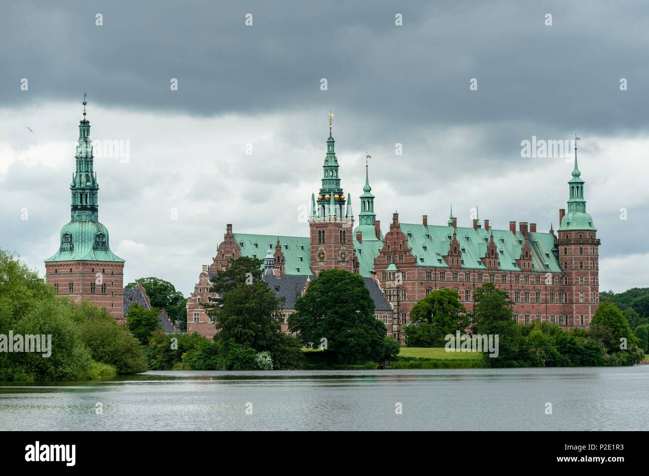 Denmark, Zealand, Hillerod, Frederiksborg Royal Castle - Stock Image