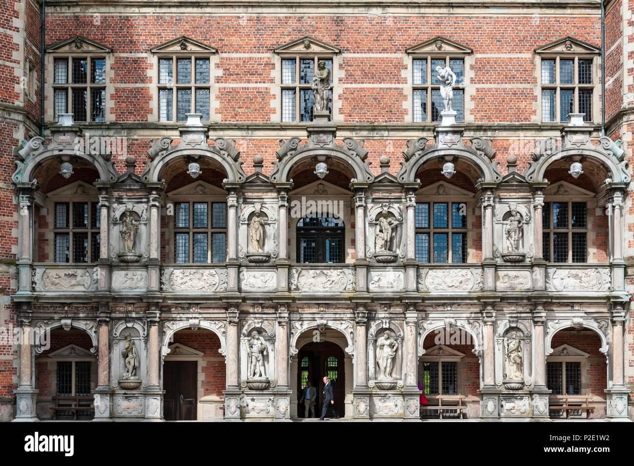 Denmark, Zealand, Hillerod, Frederiksborg Royal Castle - Stock Image