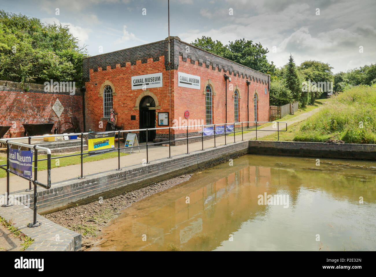 The Canal Museum at Foxton Locks in Leicestershire - Stock Image