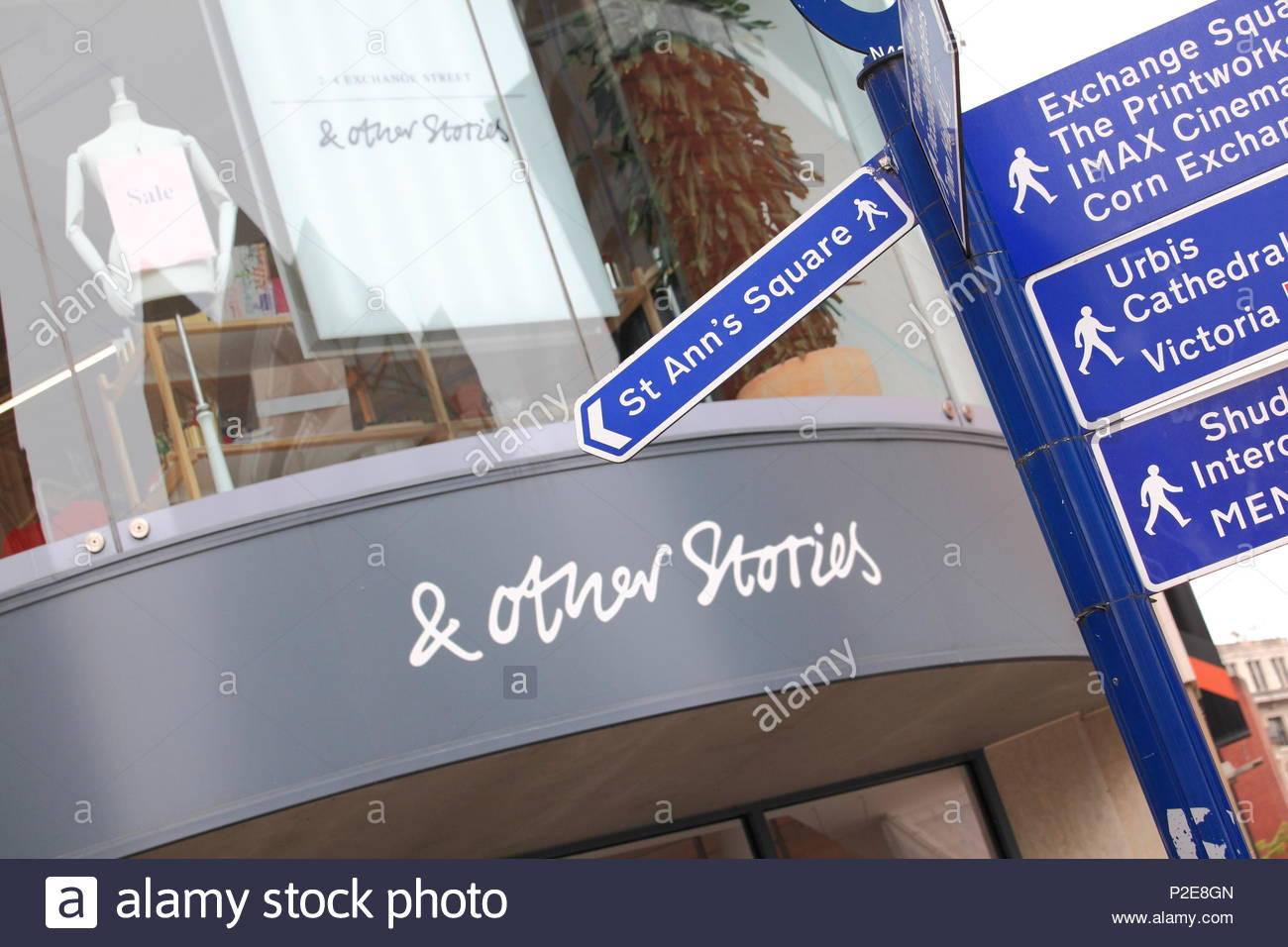 The & OTHER STORIES shop front at Manchester City Centre Uk Summer June 2018 - Stock Image