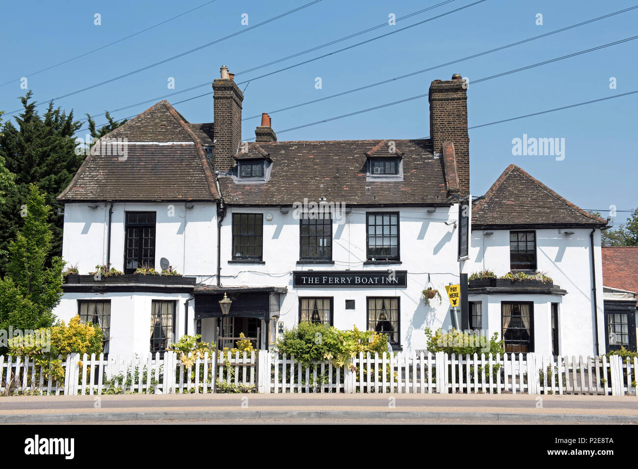 The Ferry Boat Inn, 18th Century public house or pub Tottenham Hale London Borough of Waltham Forest England Britain UK - Stock Image