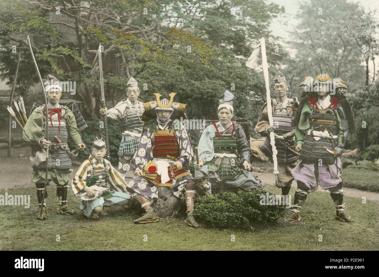 Armour and Weapons of ancient warriors, Japan - Stock Image