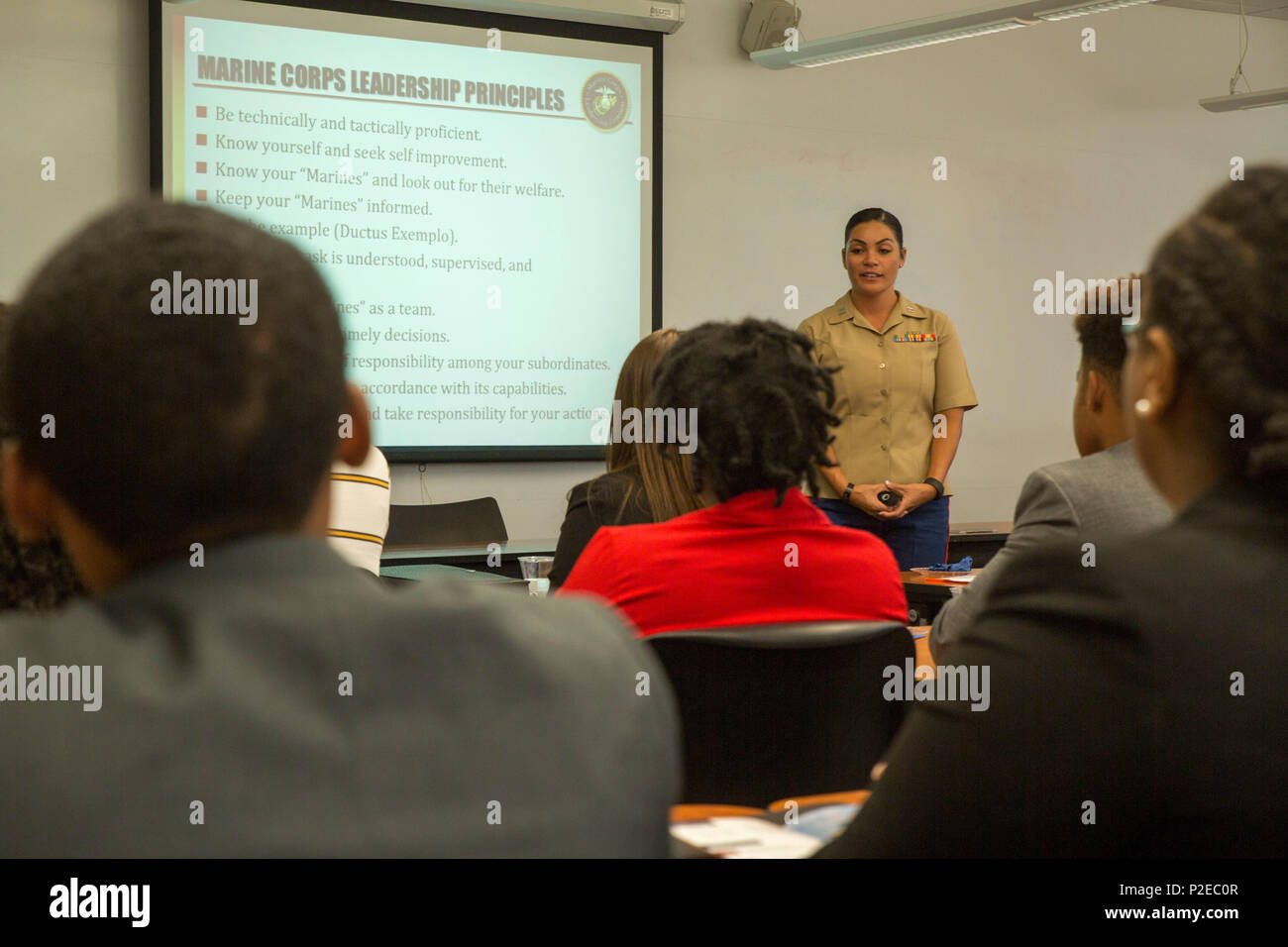 Evita Mosqueda Chapman Discusses The Marine Corps Leadership Traits