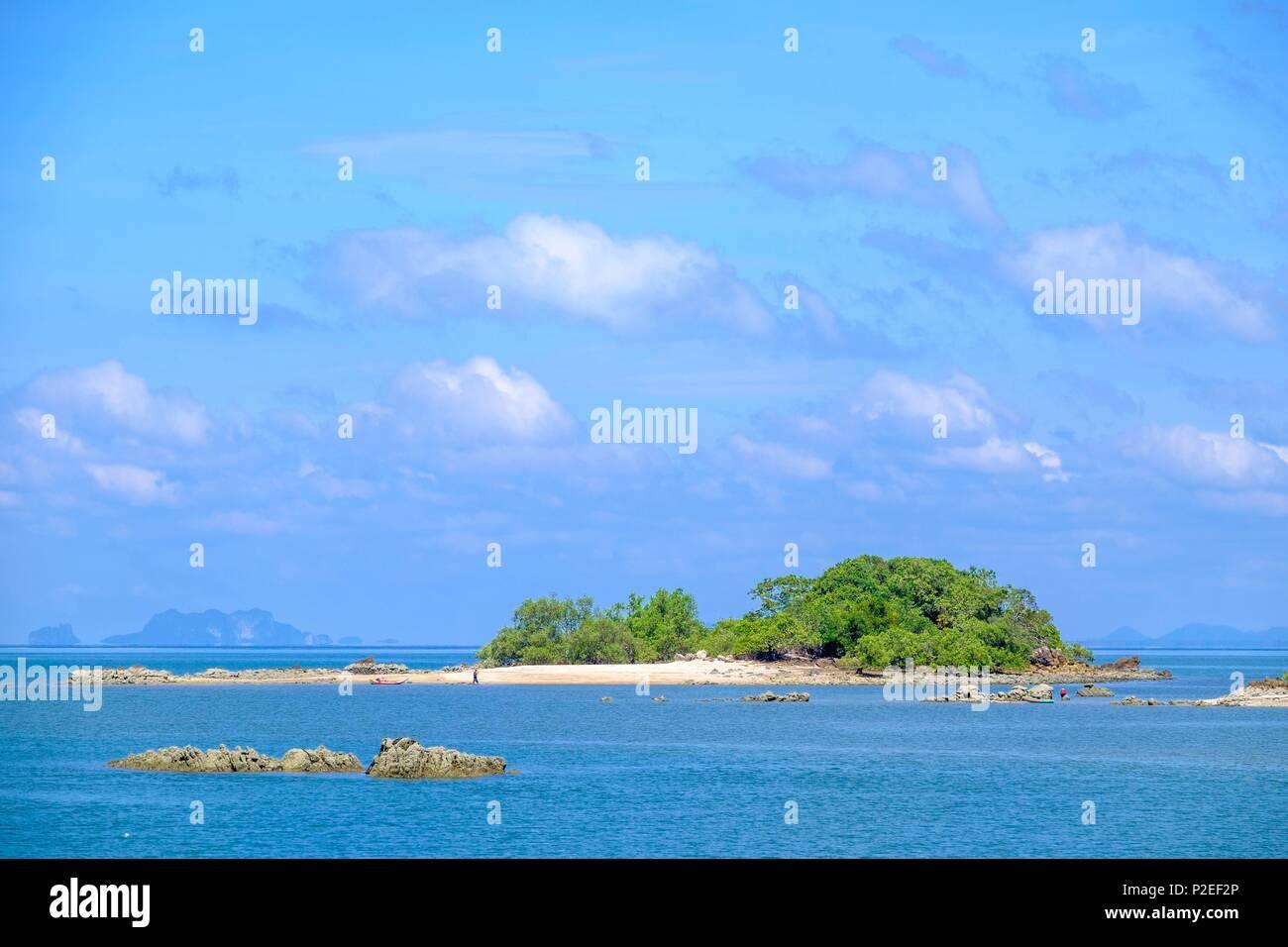 Thailand, Trang province, Ko Sukorn island, view from Ban Siammai main village - Stock Image