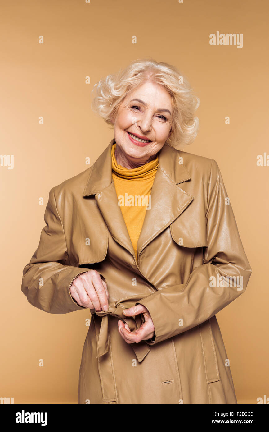 Leather Trench Coat Stock Photos & Leather Trench Coat ...