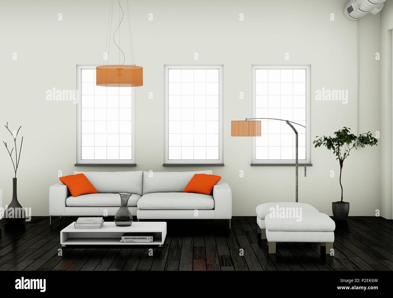 Modern bright living room Color Modern Bright Living Room Interior Design With Sofas Alamy Modern Bright Living Room Interior Design With Sofas Stock Photo