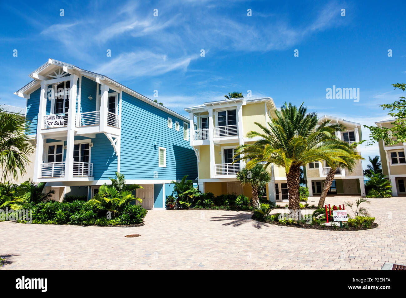 Oceanfront Homes Stock Photos & Oceanfront Homes Stock
