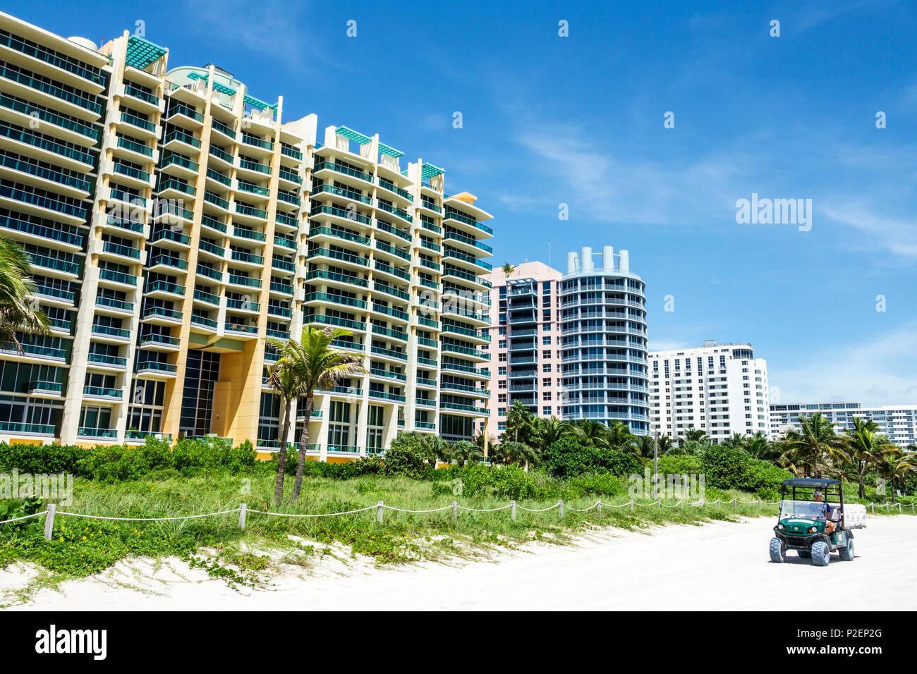 Florida Miami Beach Beachfront High Rise Condominium Buildings Il Villaggio  South Beach Luxury Real Estate Sand Dune Balcony Balconies Oceanfront