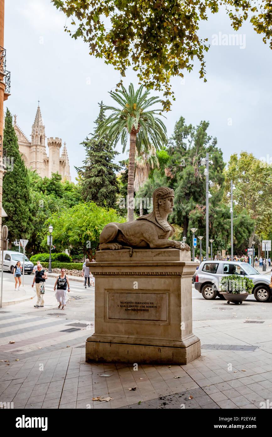Passeig des Born, Palma, Palma de Mallorca, Balearische Inseln, Spanen, Europa* Passeig des Born, Palma de Mallorca, Balearic Islands, Spain, Europe - Stock Image
