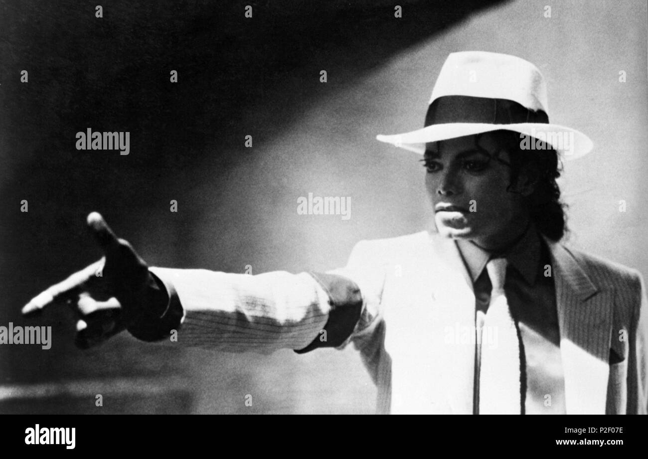 """Scene from the video """"Moonwalker"""" with Michael Jackson. Stock Photo"""