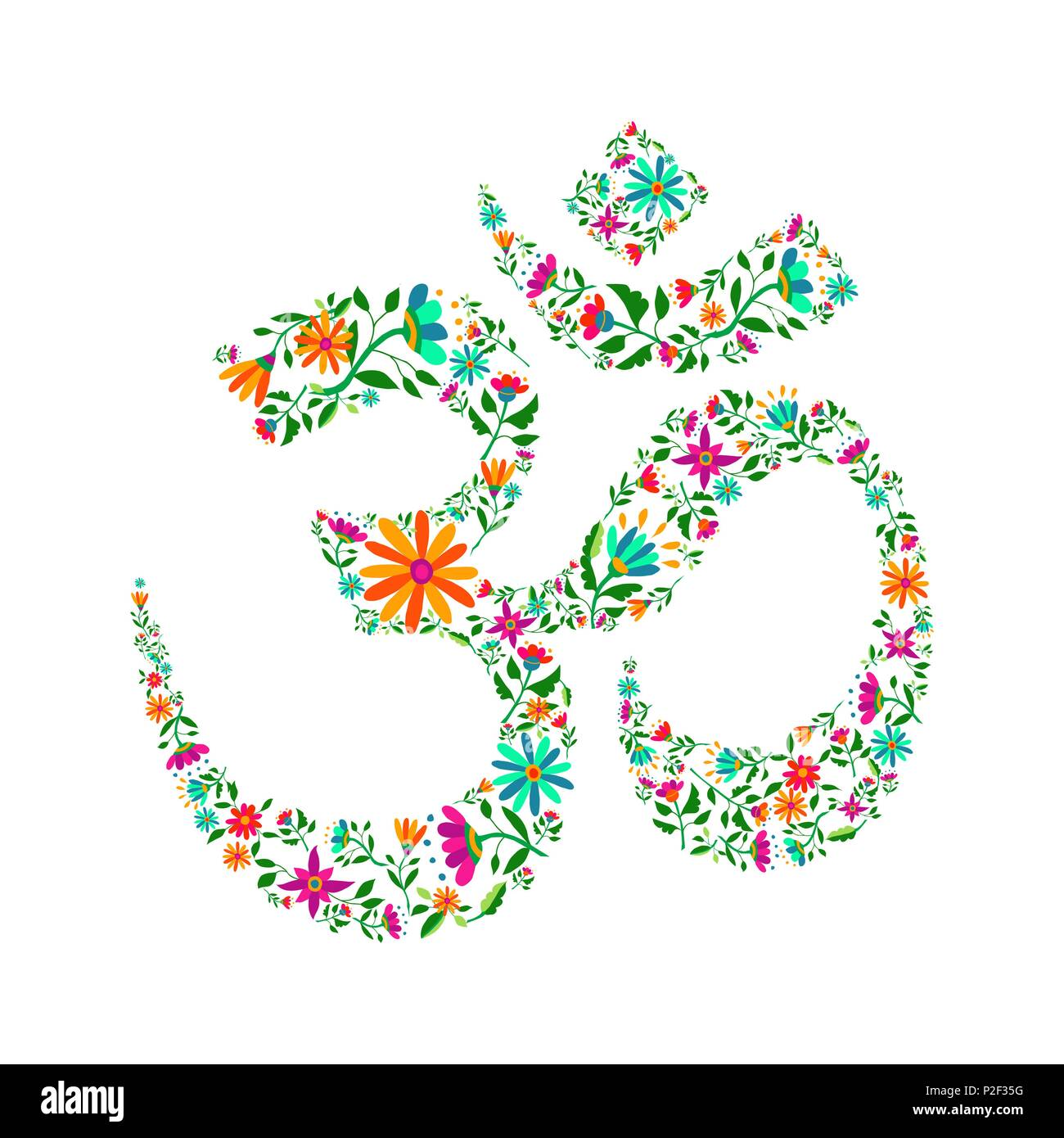 Vector Hindu Om Symbol Design Stock Vector Images Alamy