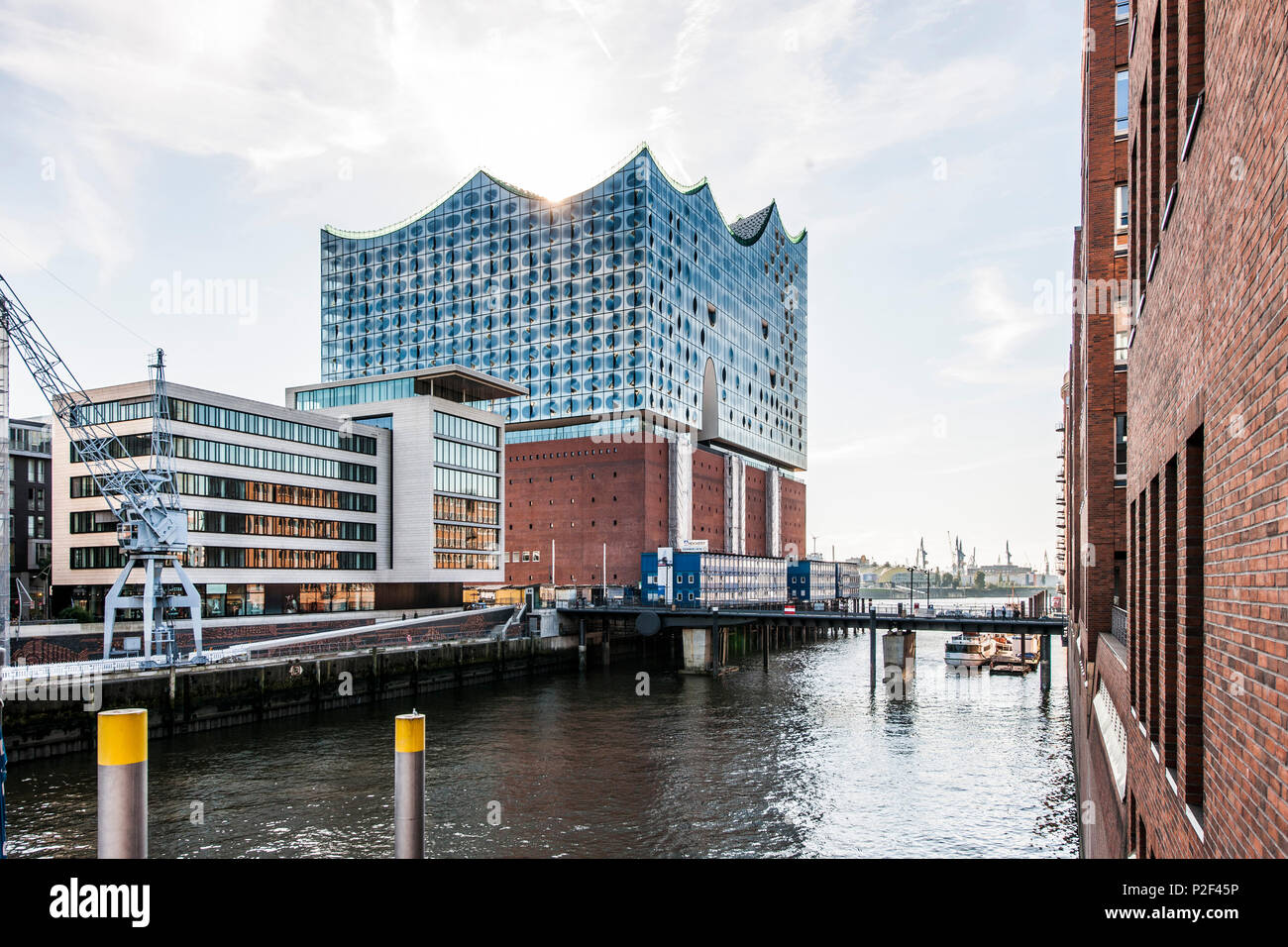 Elbphilharmonie in the Hafencity of Hamburg, north Germany, Germany - Stock Image