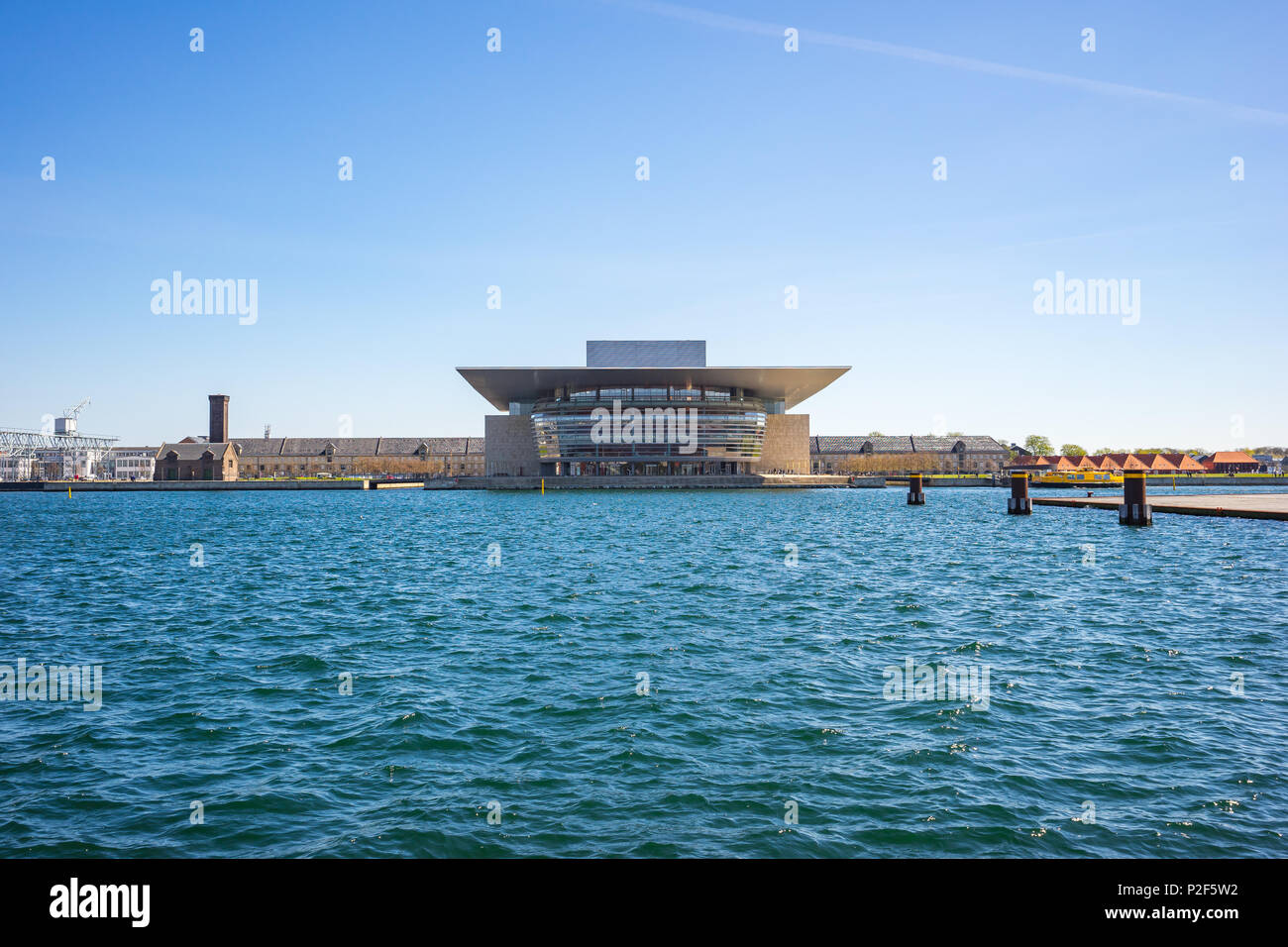 Copenhagen, Denamrk - May 1, 2017: Copenhagen Opera House landmark in Copenhagen city, Denmark. - Stock Image