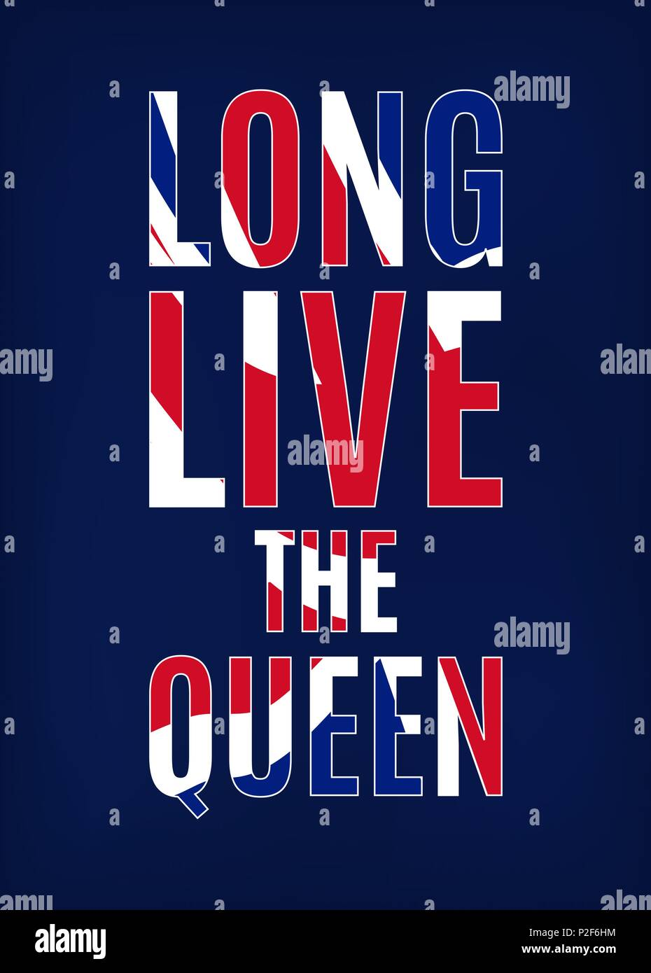 Long Live The Queen Greeting Card Design Template