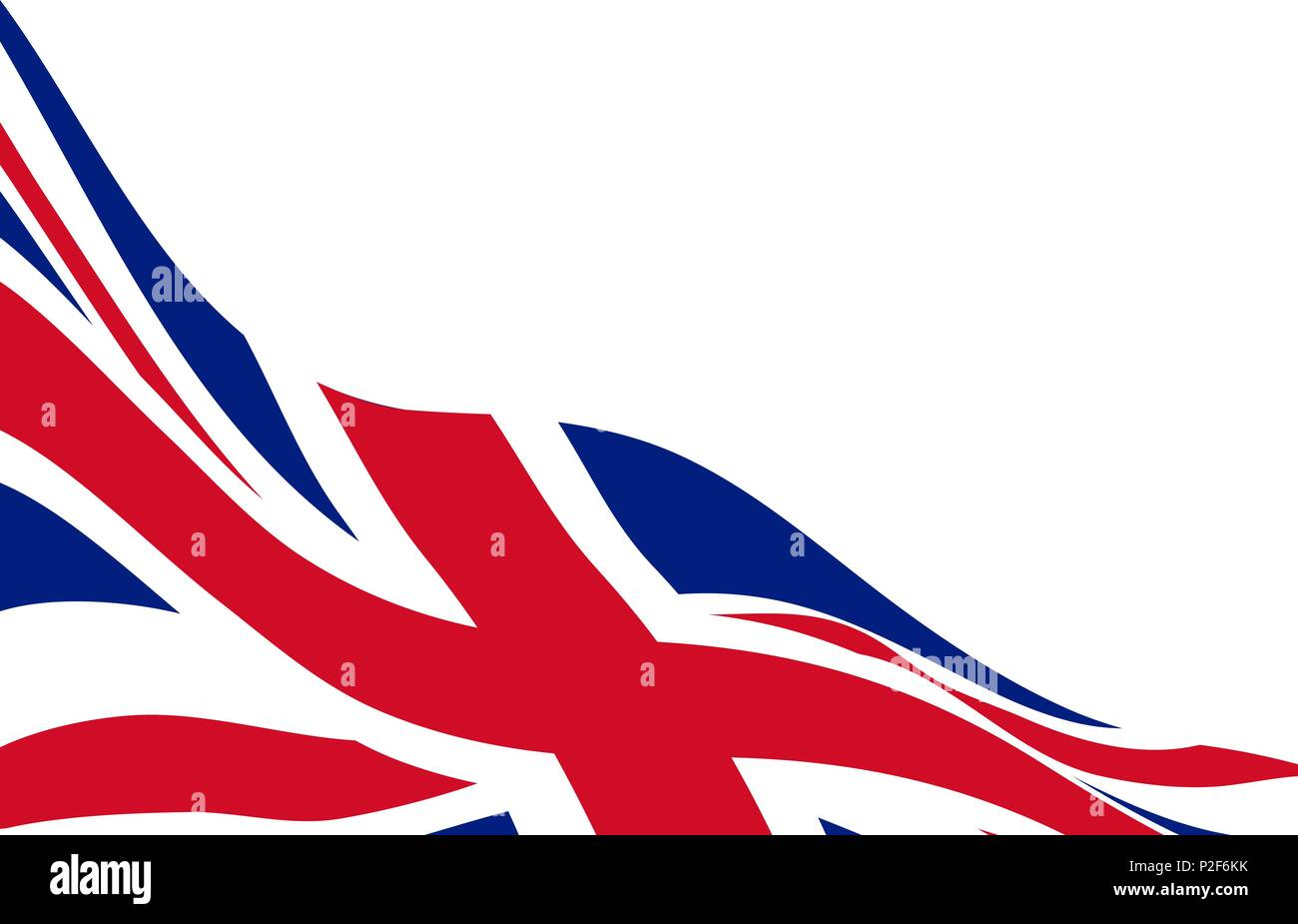 banner template with waving flag of united kingdom stock vector art