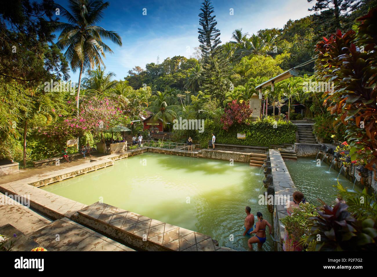 Pool, Hot Springs Air Panas Banjar at Bubunan, Bali, Indonesia Stock Photo