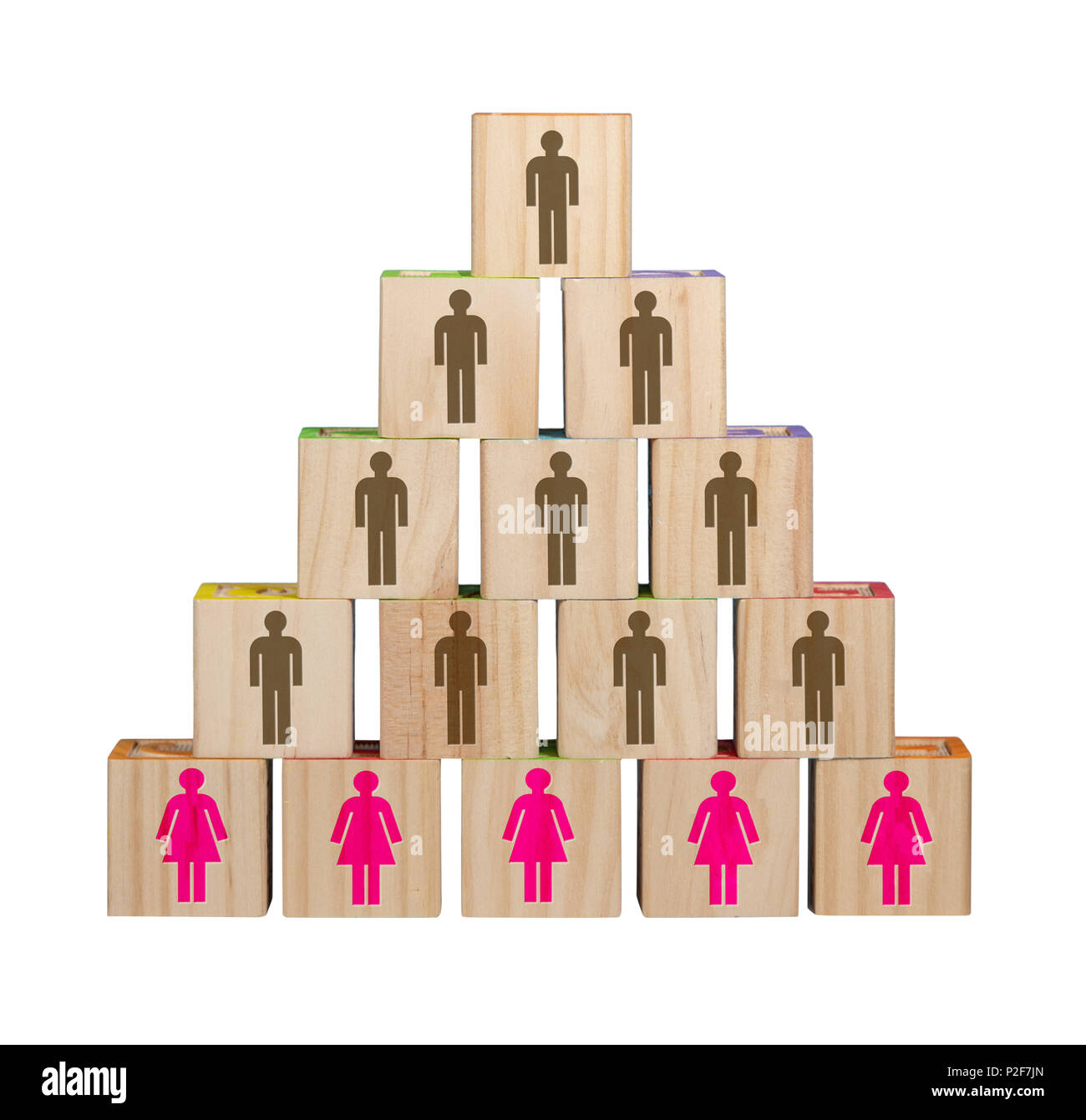 Traditional organization with women in menial positions - Stock Image