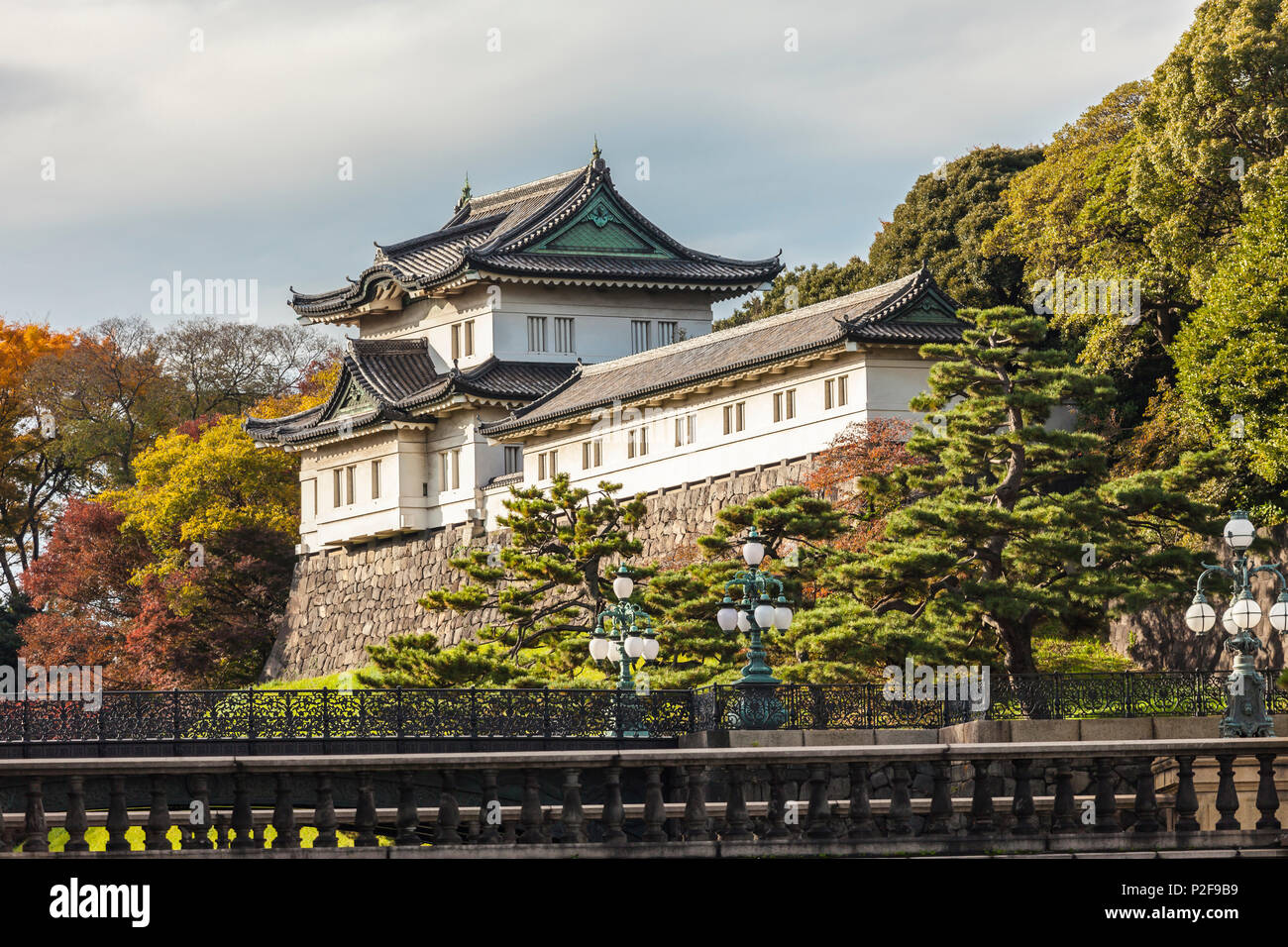 Fushimi-Yagura just behind the Nijubashi Bridge of Imperial Palace, Chiyoda-ku, Tokyo, Japan - Stock Image