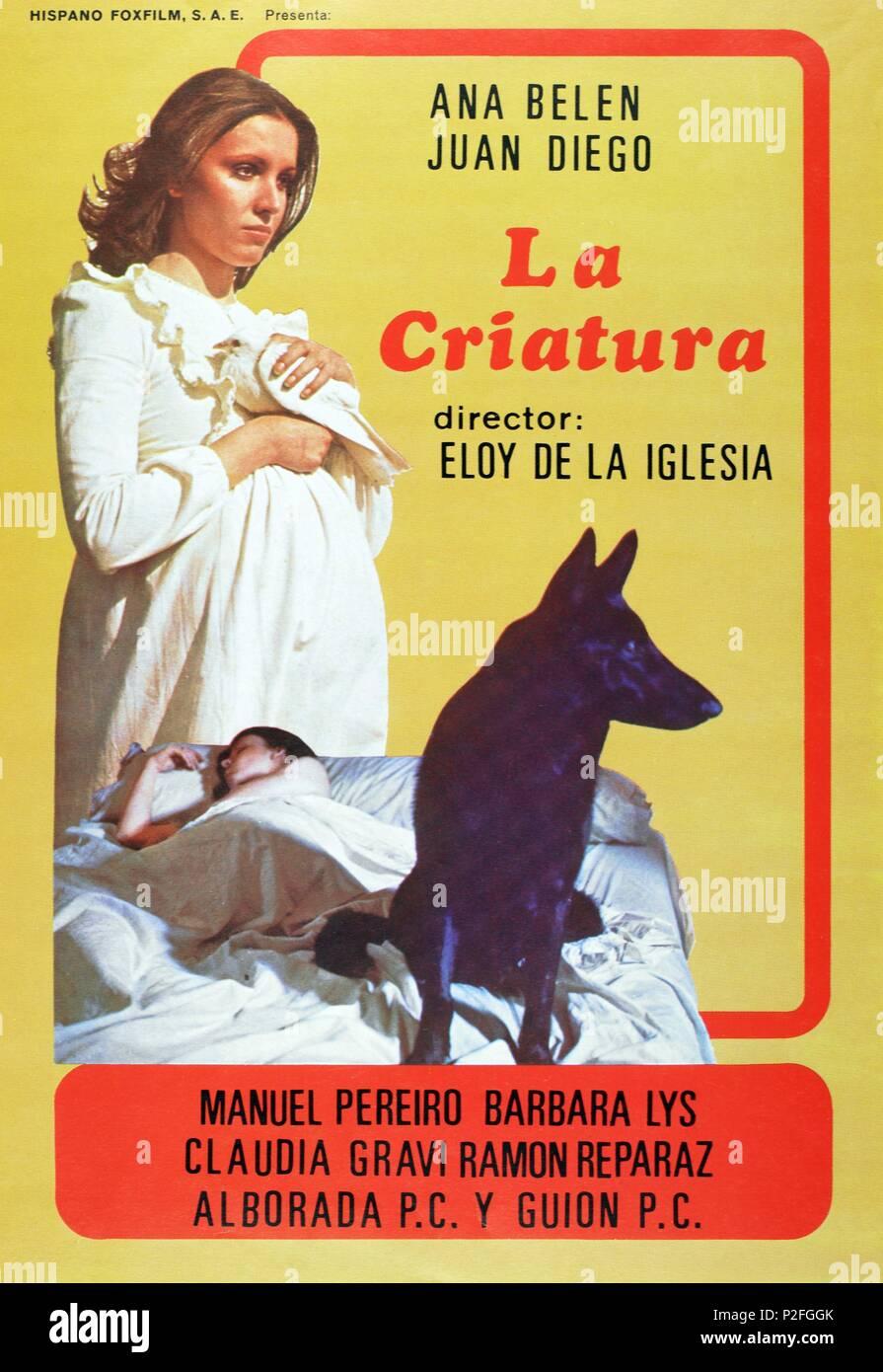 Original Film Title: LA CRIATURA.  English Title: CREATURE, THE.  Film Director: ELOY DE LA IGLESIA.  Year: 1977. Credit: ALBORADA P.C. / Album - Stock Image
