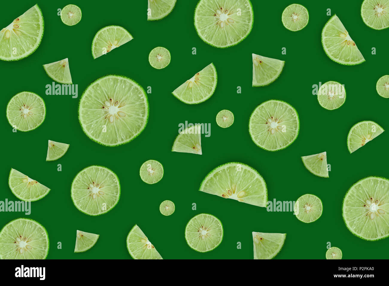 Wallpaper And Background Of Green Lemon Or Lime On The Green