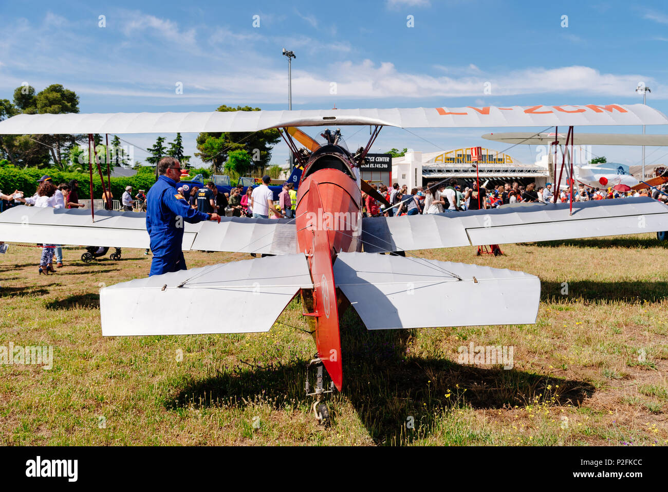 Madrid, Spain - June 3, 2018:  Consolidated Fleet 10 from 1930 during air show of historic aircraft collection in Cuatro Vientos airport - Stock Image