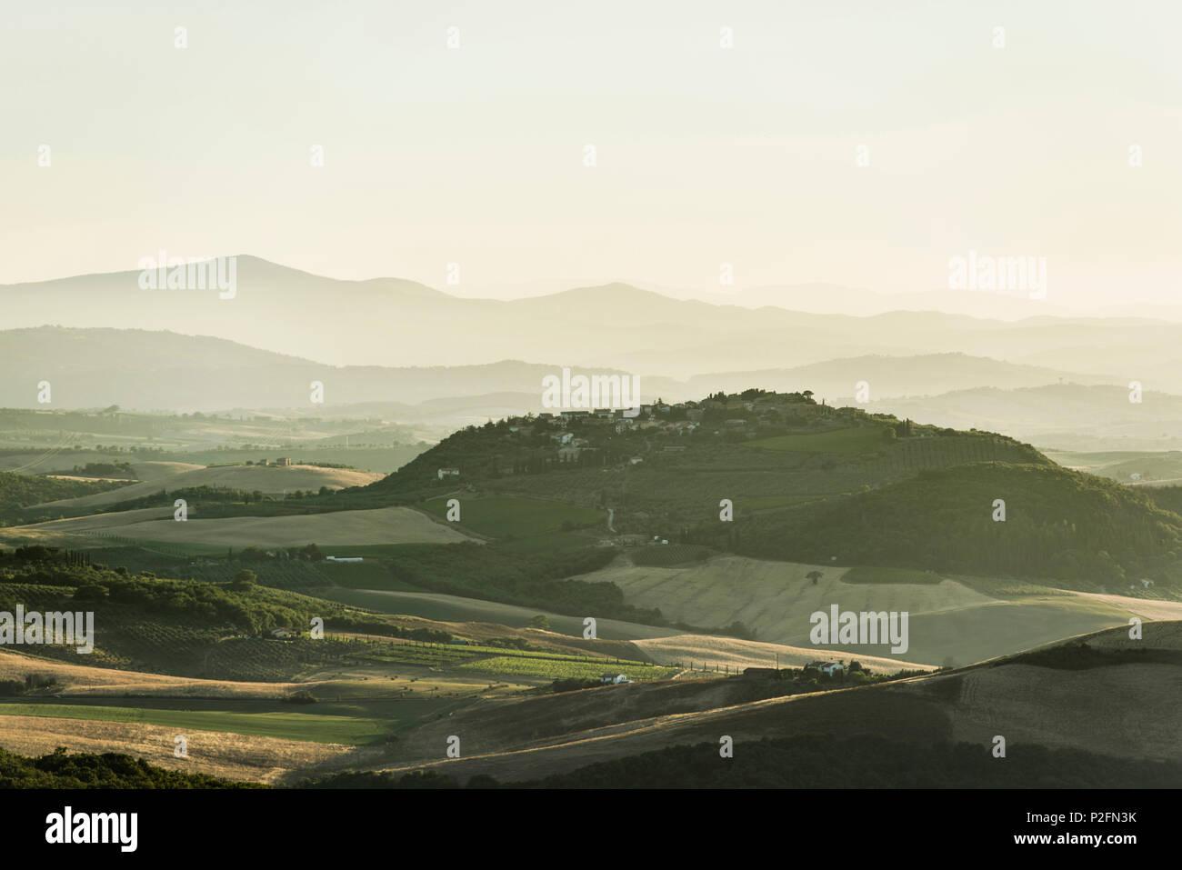 landscape near Arcidosso, province of Grosseto, Tuscany, Italy - Stock Image