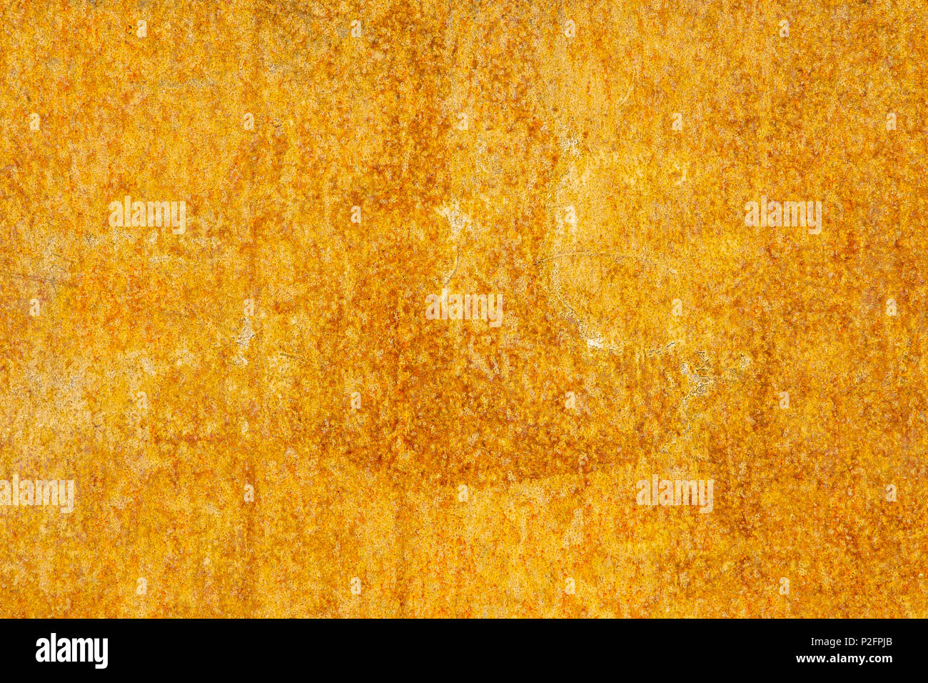 Rusty Yellow Painted Metal Wall Detailed Texture Stock