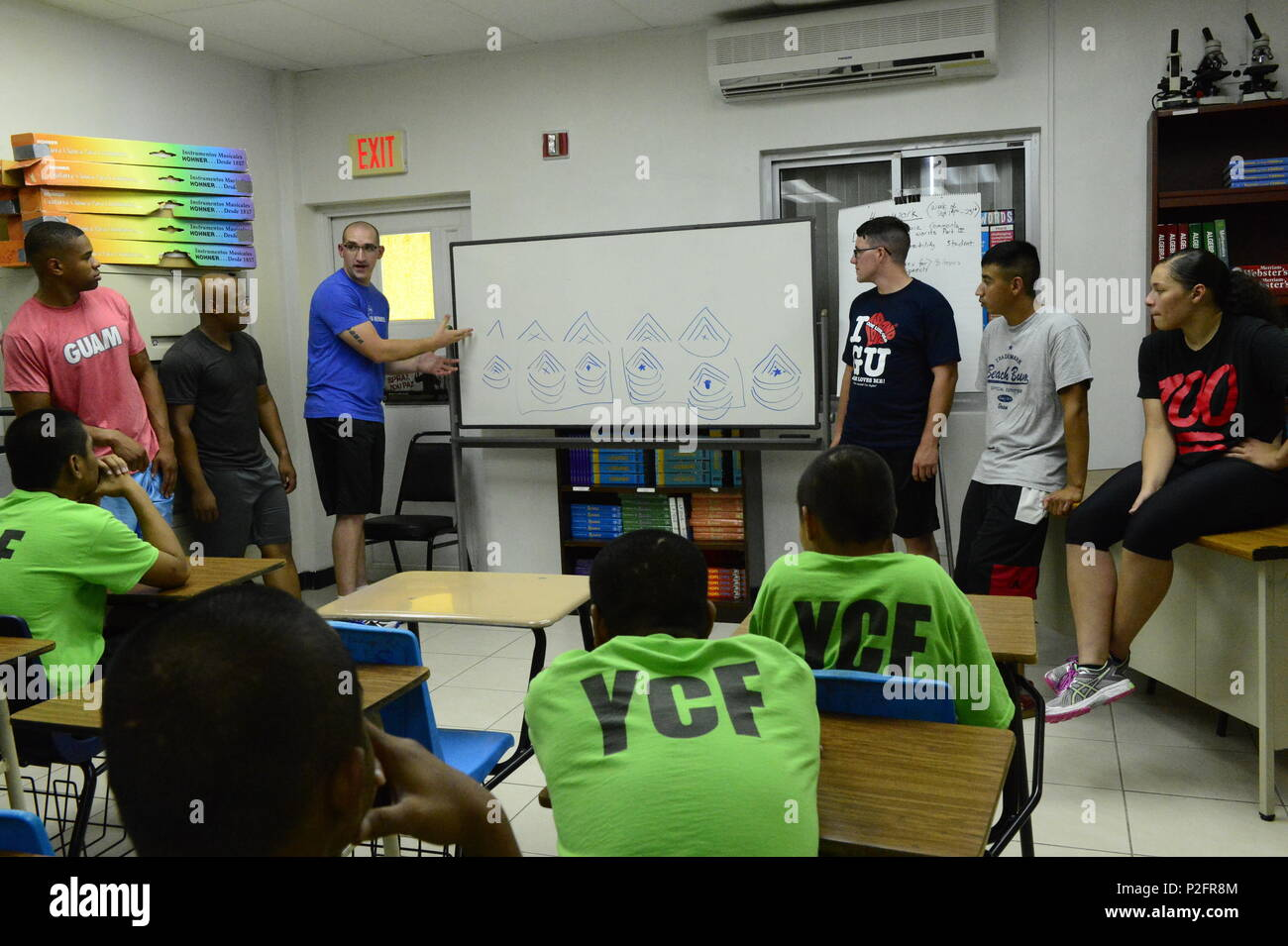 Marines From Marine Aircraft Group 12 Talk To Incarcerated Youth At The Correctional Facility In