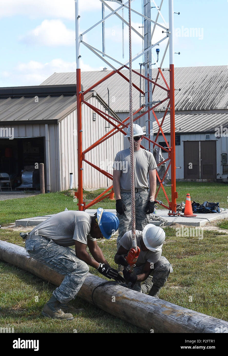 U S  Air Force cable and antenna specialists with the 202d