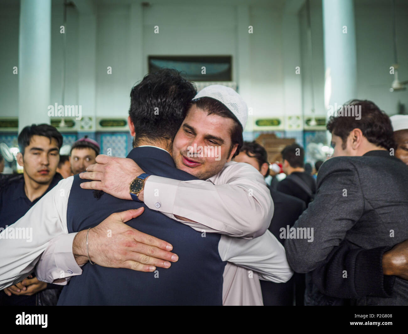 Seoul gyeonggi south korea 15th june 2018 men greet each other seoul gyeonggi south korea 15th june 2018 men greet each other after eid al fitr services at seoul central mosque on eid al fitr the muslim holy day m4hsunfo