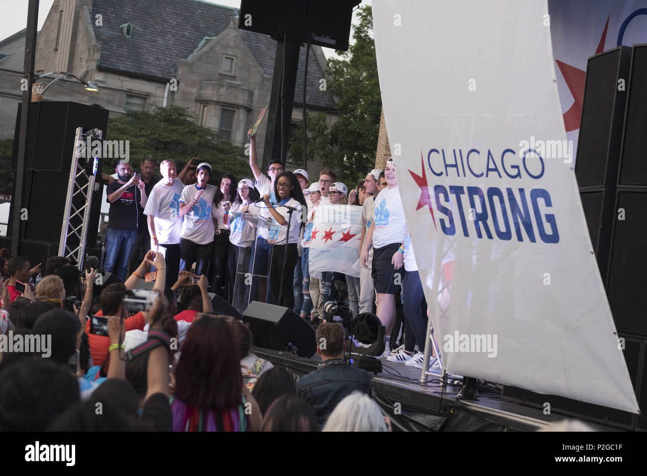 Chicago, Illinois, USA  15th June, 2018  A group of student