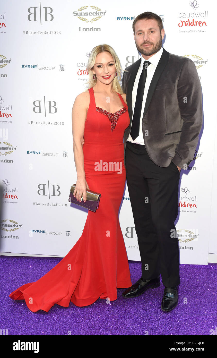 Photo Must Be Credited ©Alpha Press 079965 14/06/2018 Kristina Rihanoff and Ben Cohen The Caudwell Butterfly Ball 2018 Grosvenor House Hotel London - Stock Image