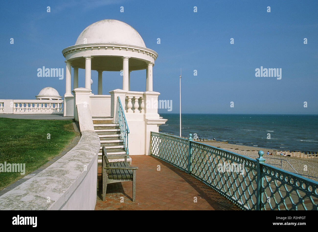 Cupola on the seafront at Bexhill-On-Sea, East Sussex UK, on the South Coast - Stock Image