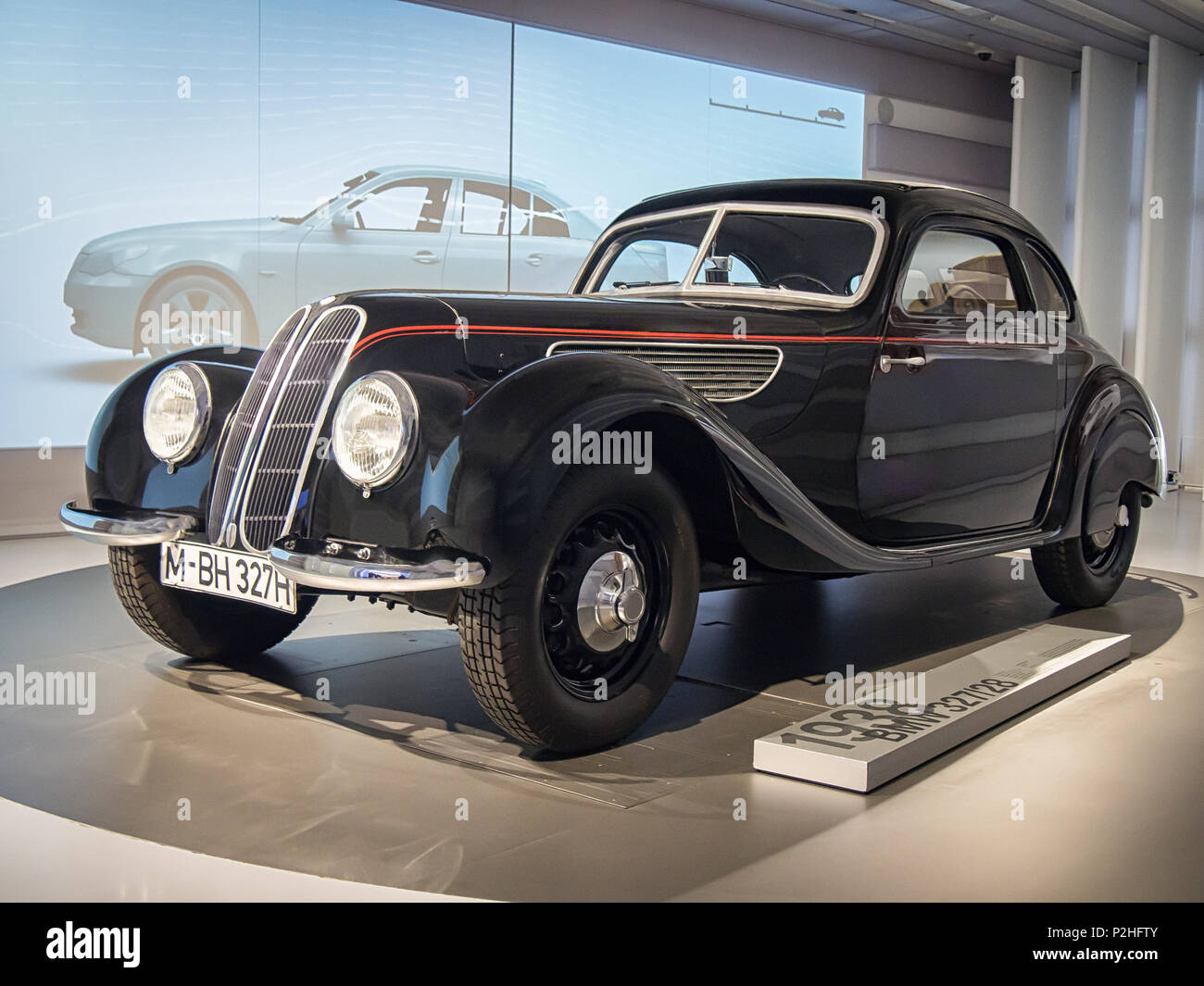 MUNICH, GERMANY-APRIL 8, 2017: 1938 BMW 327/328 Coupe in the BMW Museum. Stock Photo