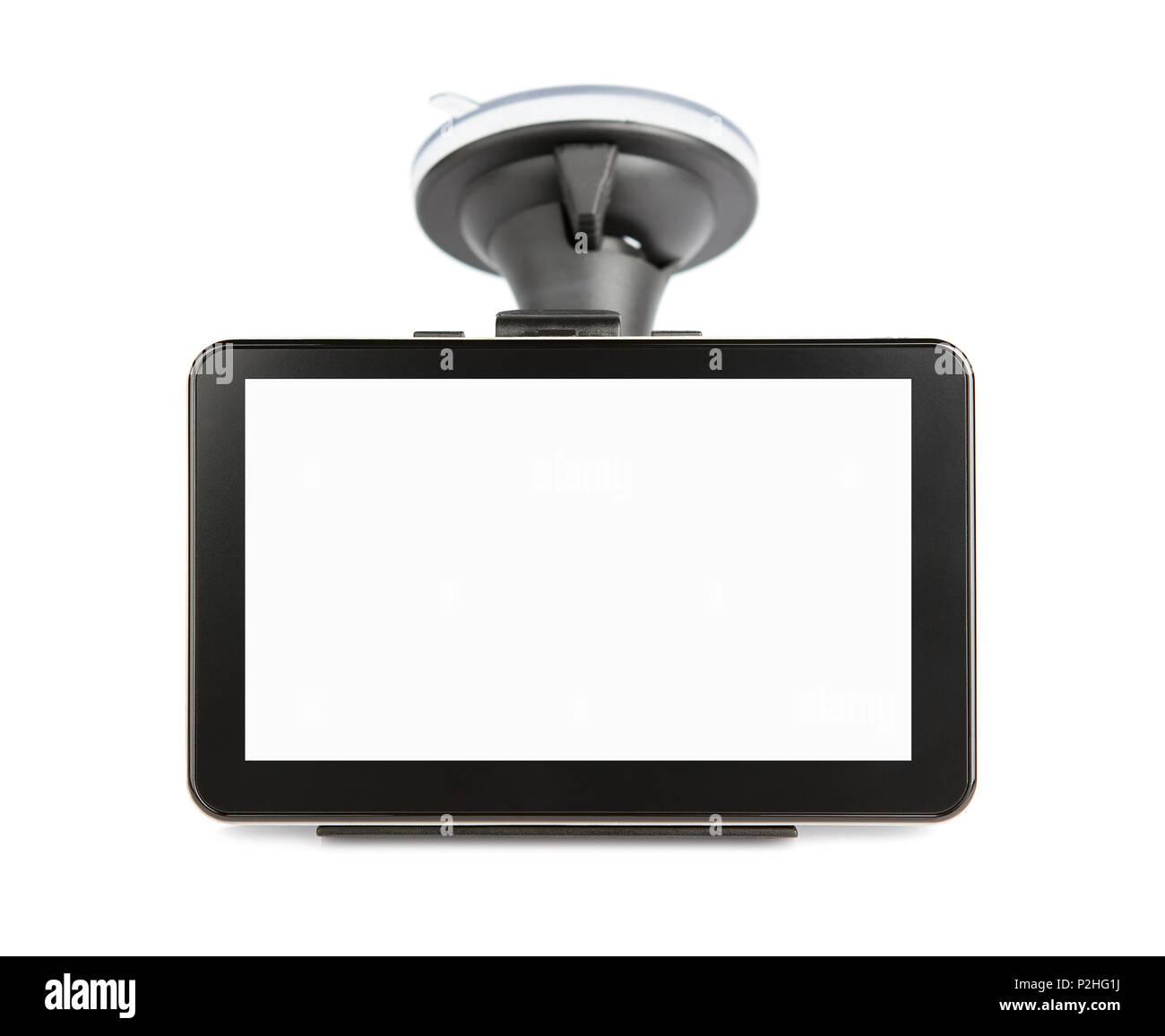 Blank gps device isolated on white background - Stock Image
