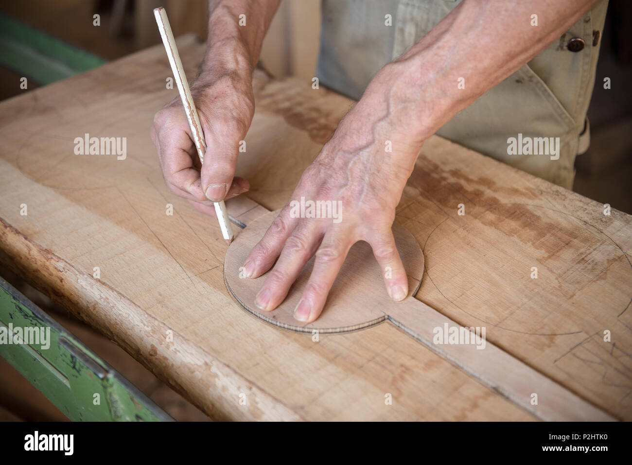 Carpenter's workshop in Bernau, Black Forest, Waldshut, Baden-Wuerttemberg, Germany - Stock Image